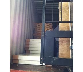 出口装柜冷库板